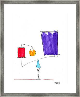 Balancing Act Framed Print by Teddy Campagna
