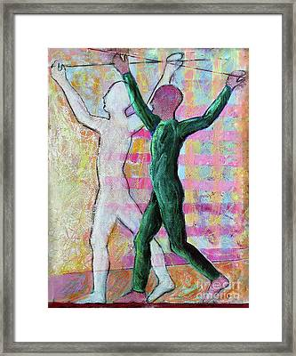 Framed Print featuring the painting Balancing Joy by Priti Lathia