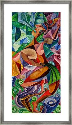 Balancing With What Is Given Framed Print by Horacio  Montes