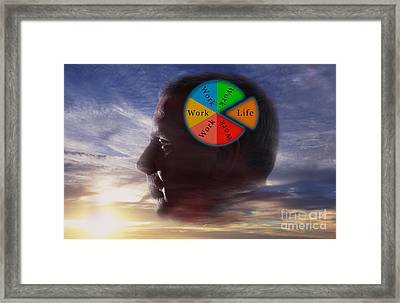 Balancing Work And Life Framed Print by George Mattei