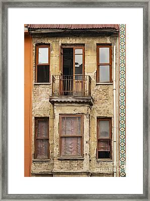 Balat Apartment Building Framed Print