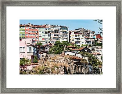 Balat Apartment Buildings Framed Print