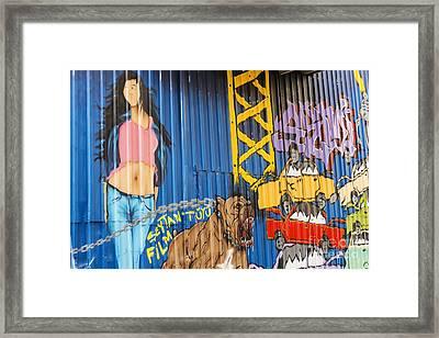 Balat Graffiti Framed Print