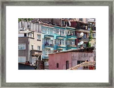 Balat Neighborhood  Framed Print