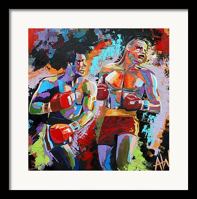 Boxing Framed Prints