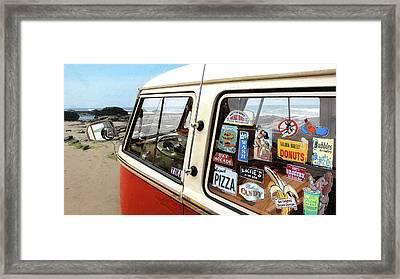 Balboa Bus Framed Print by Ron Regalado