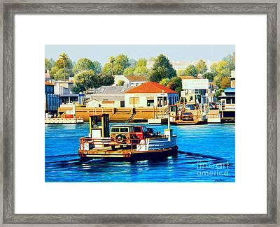 Balboa Island Ferry Framed Print by Frank Dalton