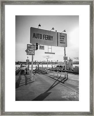 Balboa Island Ferry In Newport Beach California Framed Print by Paul Velgos