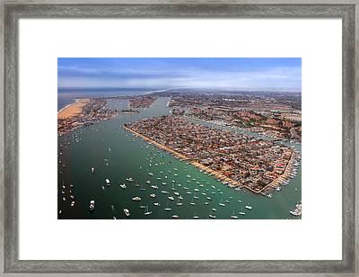 Balboa Island Newport Beach California Framed Print by Cliff Wassmann