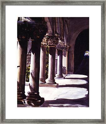 Balboa Park Arches Framed Print by Theo  Snell