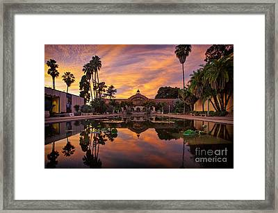 Balboa Park Botanical Building Sunset Framed Print