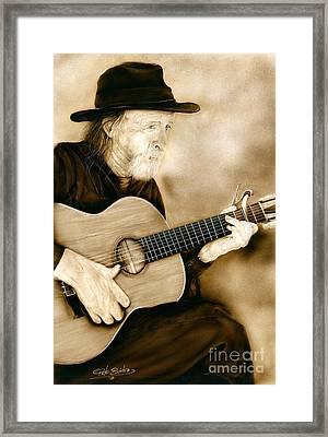 Balboa Park Guitarist Framed Print