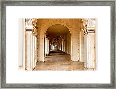 Balboa Park Walkway Framed Print by Bill Gallagher