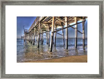 Balboa Pier Pylons Framed Print