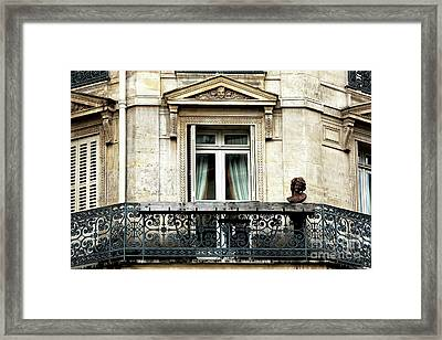 Balcon Quartier Latin Framed Print