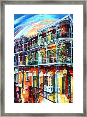 Balconies On St. Peter Street Framed Print by Diane Millsap