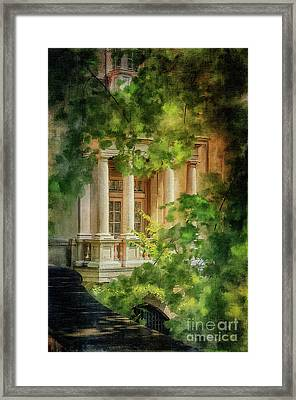 Balcony At Winterthur Framed Print by Lois Bryan