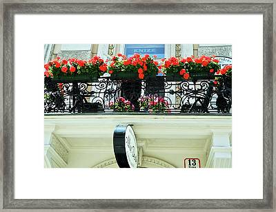 Balcony Flower Pots In Vienna Framed Print
