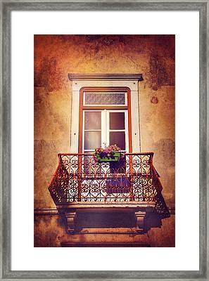 Balcony In Lisbon  Framed Print