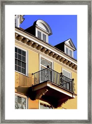Balcony In The Sun Framed Print