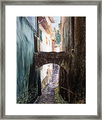 Balcony On The Arch Framed Print