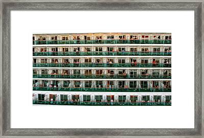 Balcony People Framed Print