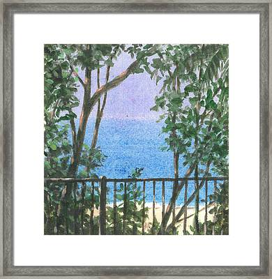 Balcony View Framed Print