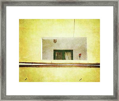 Framed Print featuring the photograph Balcony With Parrot by Anne Kotan