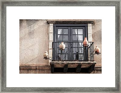Balcony With Pitchers Framed Print