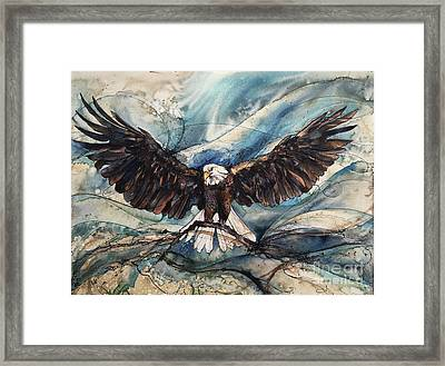 Framed Print featuring the painting Bald Eagle by Christy Freeman