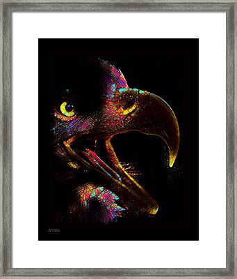 Bald Eagle Color Splash  Framed Print