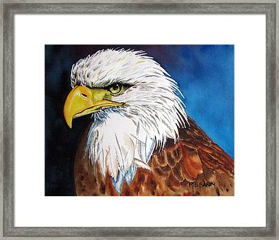 Bald Eagle Framed Print by Maria Barry
