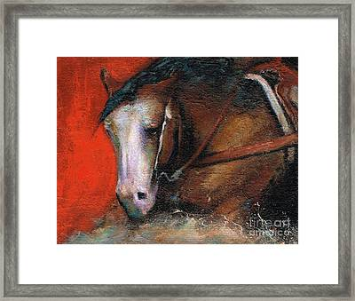 Bald Face Framed Print by Frances Marino
