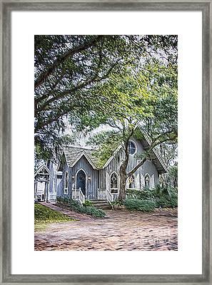 Bald Head Island Chapel Framed Print