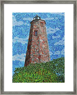 Bald Head Island, Old Baldy Lighthouse Framed Print by Micah Mullen