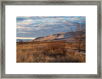 Bald Mountain At Dawn Framed Print