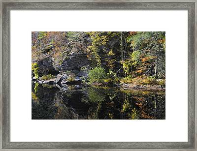 Bald River Autumn Reflection Framed Print by Darrell Young