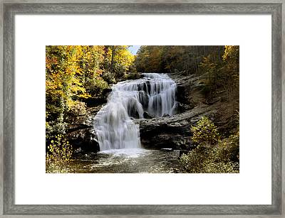 Bald River Falls In Autumn Framed Print by Darrell Young
