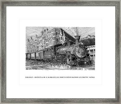 Baldwin 481   2 8 2   Narrow Gauge Steam Locomotive Framed Print by Jack Pumphrey
