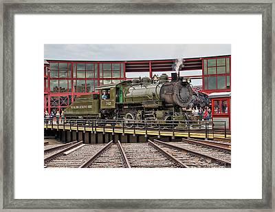 Baldwin Locomotive On The Turntable Framed Print by Kristia Adams