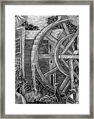 Bale Grist Mill Framed Print by Valera Ainsworth