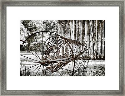 Bale The Hay Framed Print by Greg Sharpe