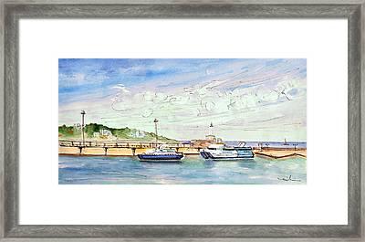 Balearia Ferries In Ibiza Framed Print by Miki De Goodaboom