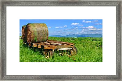 Bales At Rest Framed Print