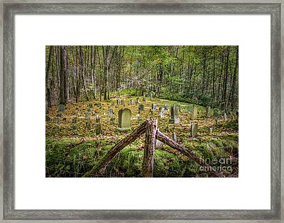 Bales Cemetery Framed Print by Patrick Shupert