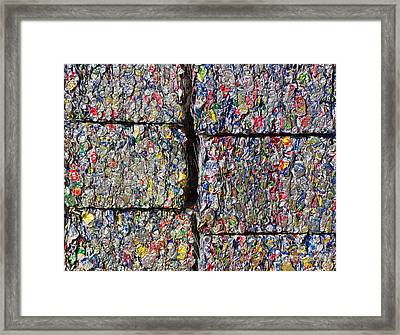 Bales Of Aluminum Cans Framed Print by David Buffington