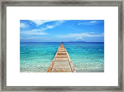 Bali Beach Indonesia Framed Print