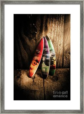 Bali Beach Surf Holiday Scene Framed Print