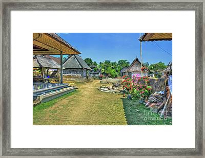 Bali Family Compound Framed Print by Kevin Oconnell