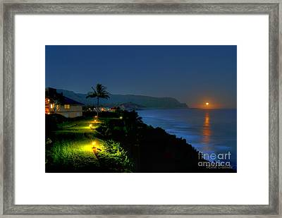 Bali Hai Moonset Framed Print